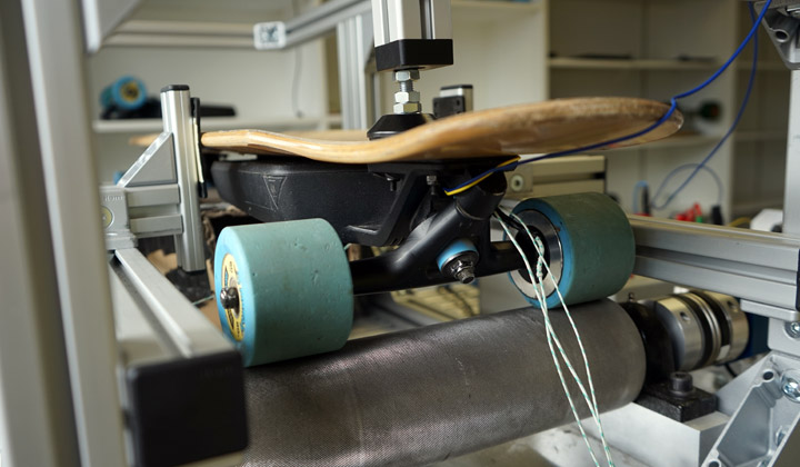 The Mellow Test Rig for Electric Skateboards
