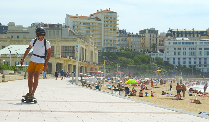 Electric Skateboard Travel Guide: Biarritz
