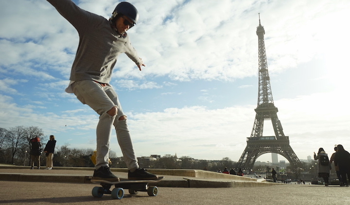 Electric Skateboarding in Paris with the 4221 Project