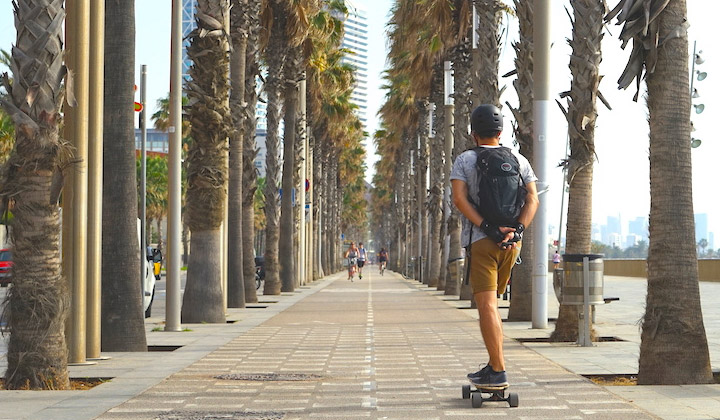 Electric Skateboard Travel Guide: Barcelona